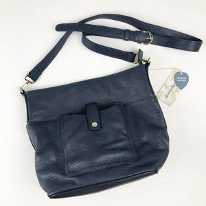 Tommy Bahama Leather Crossbody Navy Blue Purse NWT